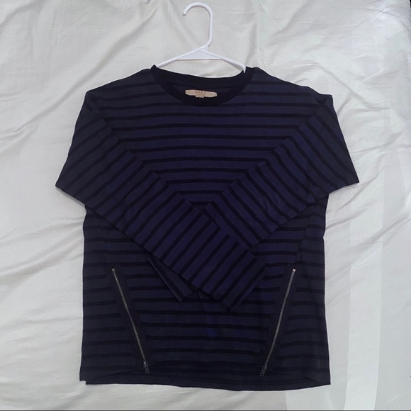Zara stripe blue long sleeves